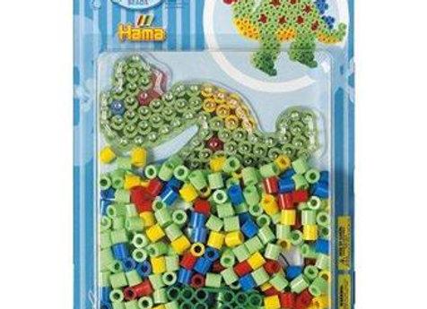 """Perles à repasse """"Maxi """"+ plaque dinosaure - Hama"""