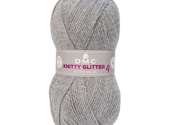 LAINE KNITTY 4 GLITTER GRIS 226 DMC