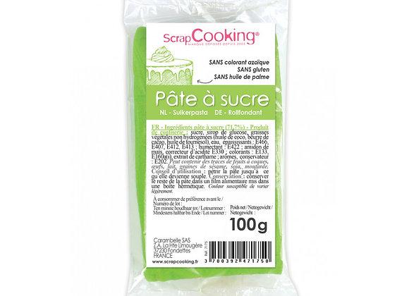 Pâte à sucre vert prairie 100g - Scrapcooking - 7175