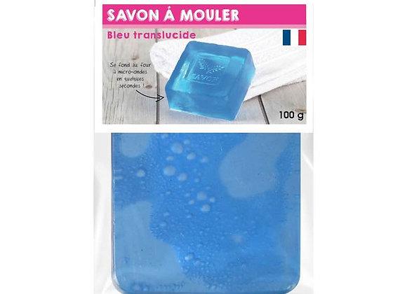PAIN DE 100G DE SAVON TRANSLUCIDE BLEU A MOULER GRAINE CREATIVE 200345