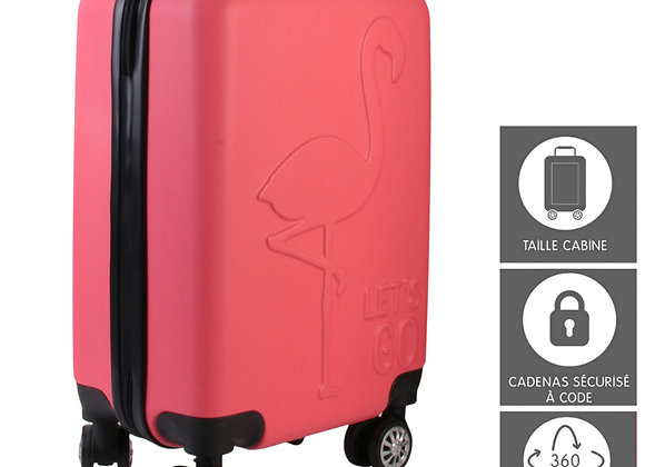 VALISE CABINE FLAMANT ROSE
