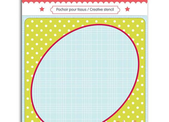 Pochoir couture ovale - Toga - 3661847022180