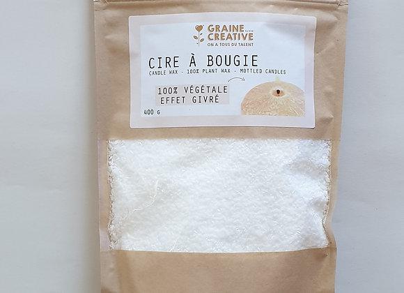 CIRE BOUGIE VEGETALE EFFET GIVRE 400g - GRAINE CREATIVE - 3471051371000