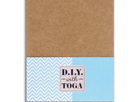 Bloc notes Kraft 10x15cm à personnaliser 120 feuilles détachables - Toga.