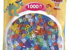 """Perles à repasser """"midi"""" couleur mix paillettes x1000 - Hama"""