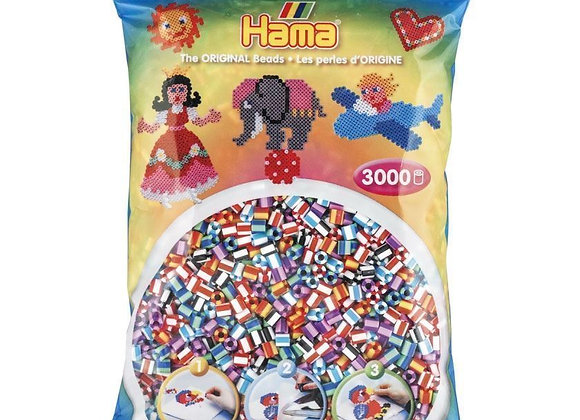 3000 perles à repasser mix rayés - Hama