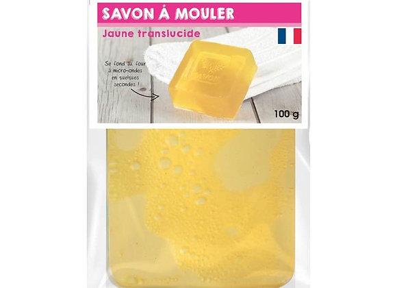 PAIN DE 100G DE SAVON TRANSUCIDE JAUNE A MOULER GRAINE CREATIVE 200342