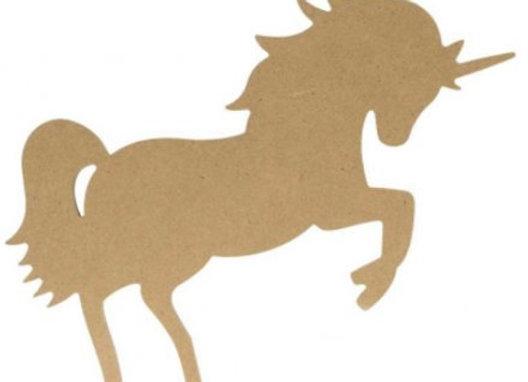Silhouette Licorne 15 cm en MDF - 14002640- Artemio