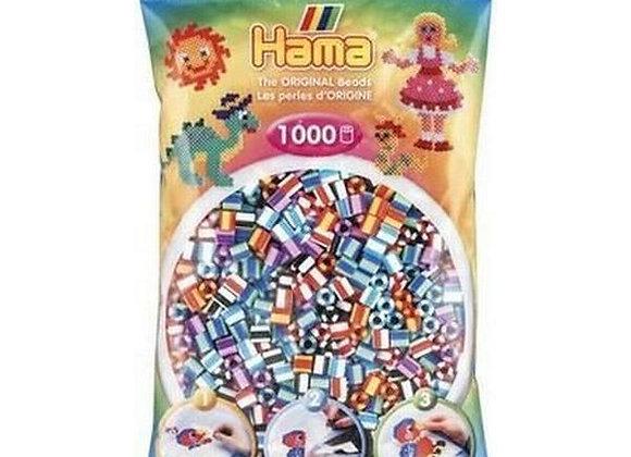 "Perles à repasser ""midi"" rayures mix 90 - 207-90  x1000 - Hama"