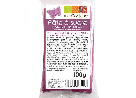 Pâte à sucre violette 100g - Scrapcooking 7180