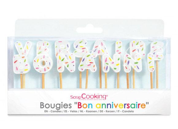 Bougies BON ANNIVERSAIRE  - Scrapcooking