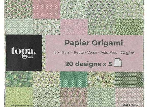 """Papier à origami x20 feuilles """"Kyoto"""" POG012 - Toga"""