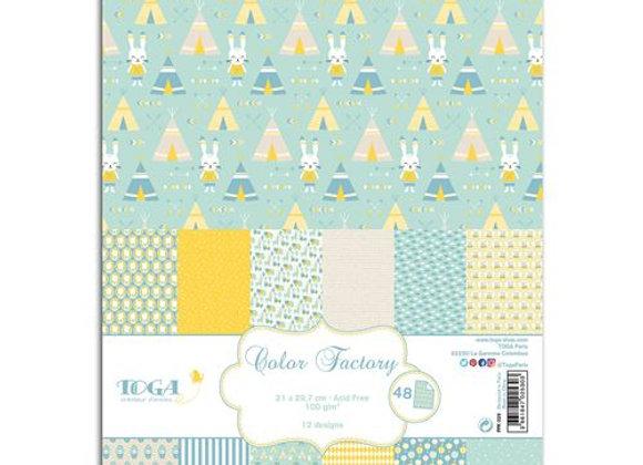 48 feuilles A4 Color Factory - Léonard - DRAEGER by TOGA