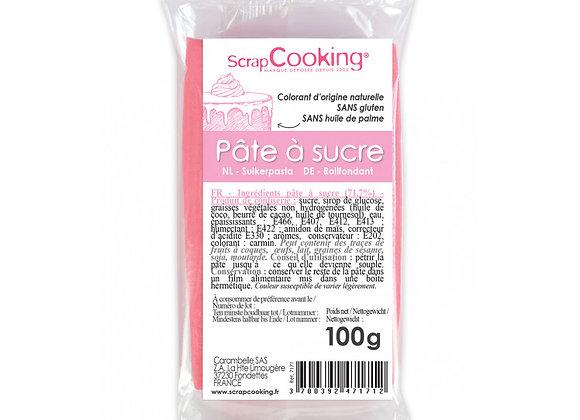 Pâte à sucre rose 100g - Scrapcooking 7171