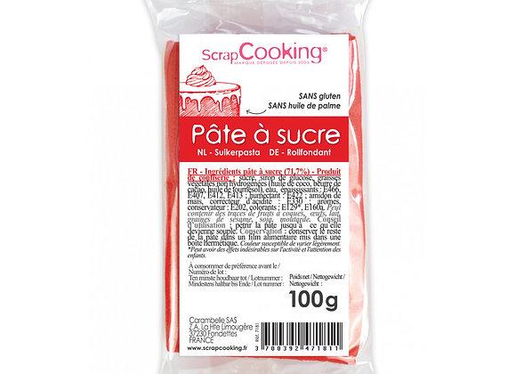 Pâte à sucre rouge 100g -Scrapcooking 7181