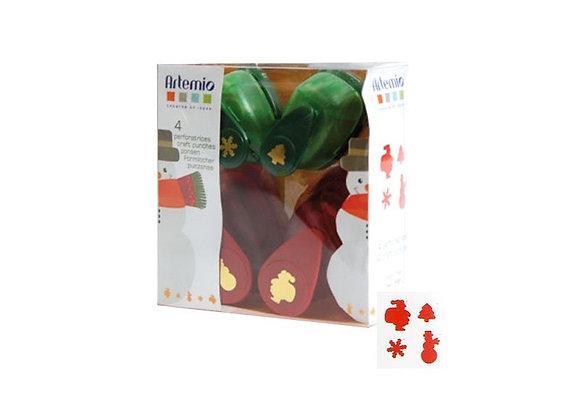 Coffret de 4 perforatrices de Noël - 10003019 - Artemio