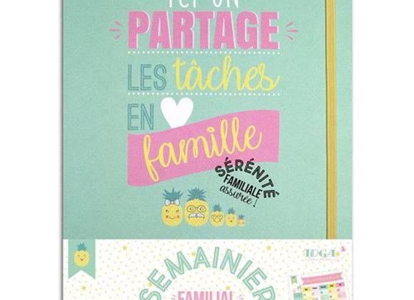 """Kit semainier """"Ici on partage les tâches en famille"""" -KT82- Toga"""