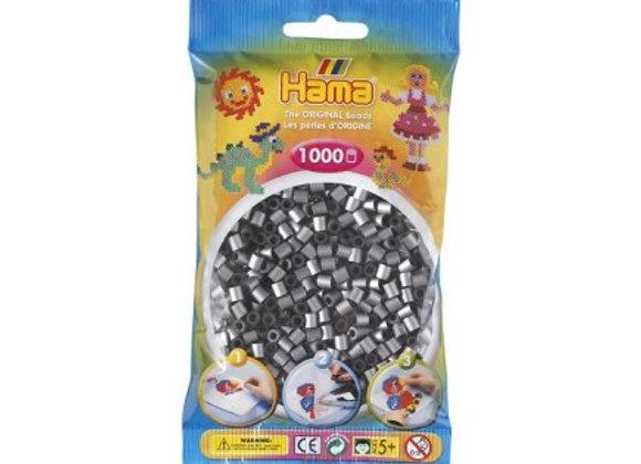 """Perles à repasser """"midi"""" couleur argent 207-62 x1000 - Hama"""