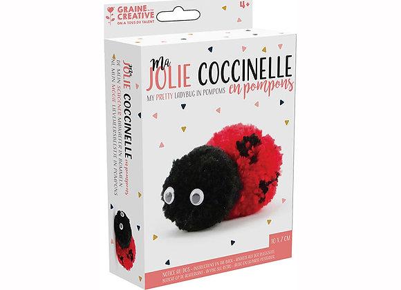 KIT POMPON MA JOLIE COCCINELLE GRAINE CREATIVE 440020