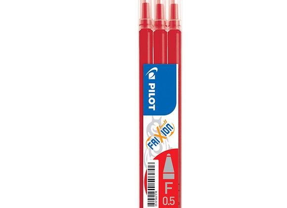 Etui de 3 recharges d'encre rouge effaçable pour stylo Frixion - Pilot