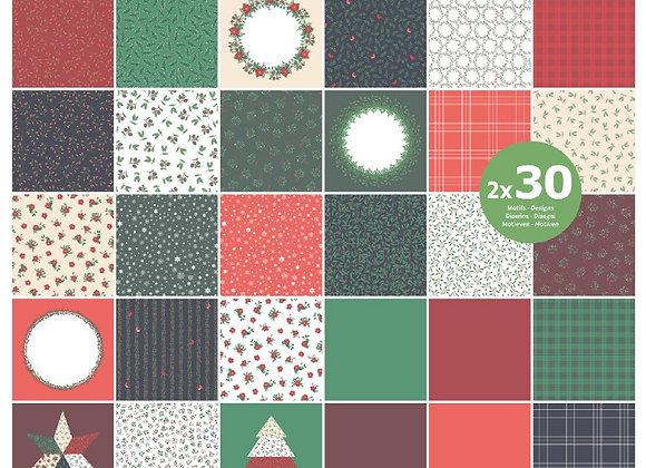 Bloc de 2x30 feuilles MERRY CHRISTMAS - Artemio