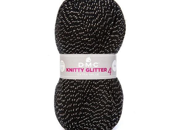LAINE KNITTY 4 GLITTER NOIR 232 DMC