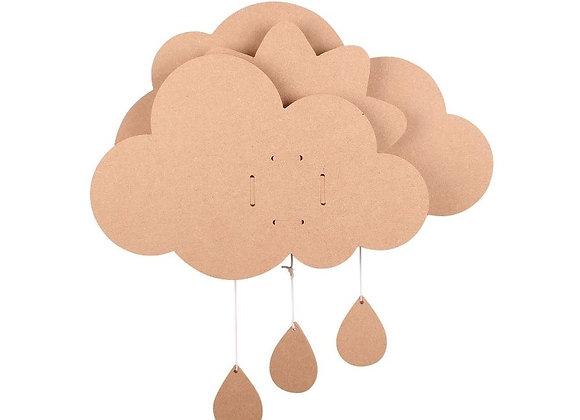 Kit nuage à décorer avec boîte à musique en MDF - Graine créative