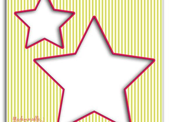 "Pochoir couture ""étoile"" - Mademoiselle Toga - 3661847022104"