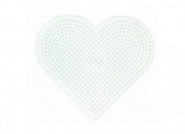 """Plaque coeur grand modèle blanc pour perles à repasser taille """"midi""""- Hama"""