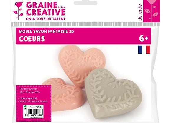 """Moule savon fantaisie """"Coeur"""" - Graine Créative - 200430"""