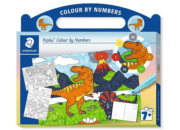 "Coloriages cartes postales numéros ""Dino"" - Staedtler"