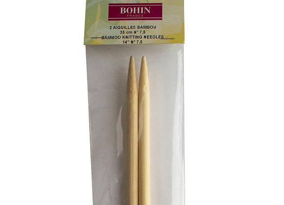 Aiguilles à tricoter 7.5mm en bambou - BOHIN
