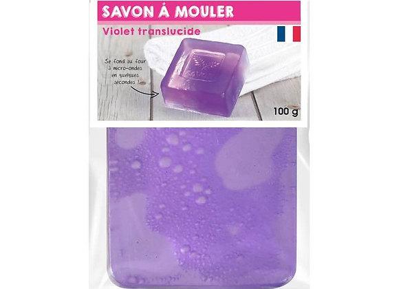 PAIN DE 100G DE SAVON TRANSLUCIDE VIOLET A MOULER GRAINE CREATIVE 200341