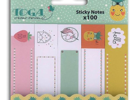 "100 mini sticky notes ""Happy Days"" - Toga"