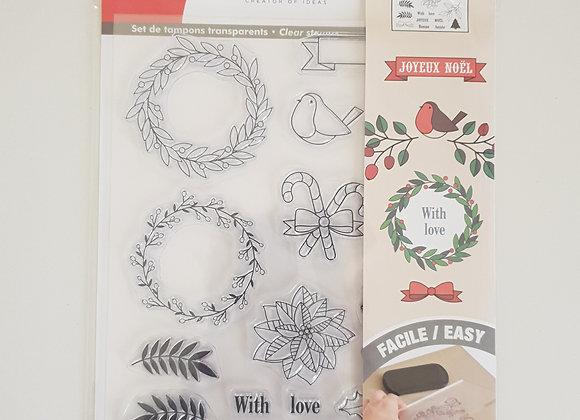 Set de tampons transparents Merry Christmas - 10001369 - Artemio