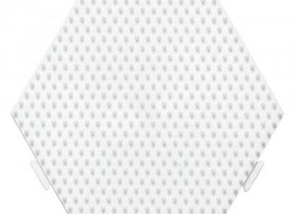 Plaque hexagone blanc emboitable 329 pour perles à repasser - Hama