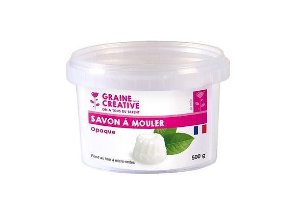 Savon à mouler blanc opaque, 500g - Graine Créative - 200201