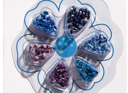 Assortiment d'attaches parisiennes bleues - Artemio