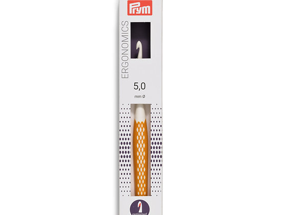 Crochet ergonomique 5mm-plastique- PRYM