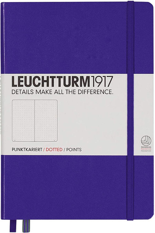 Leuchtturm1917 Medium A5 Dotted Hardcover Notebook (Purple) - 249 Numbered Pages