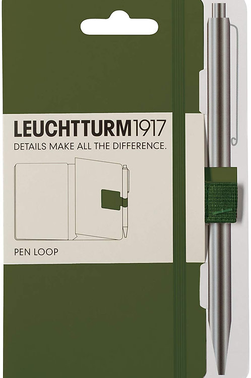 LEUCHTTURM1917 348093 Pen Loop (Pencil Holder), self-Adhesive, Army
