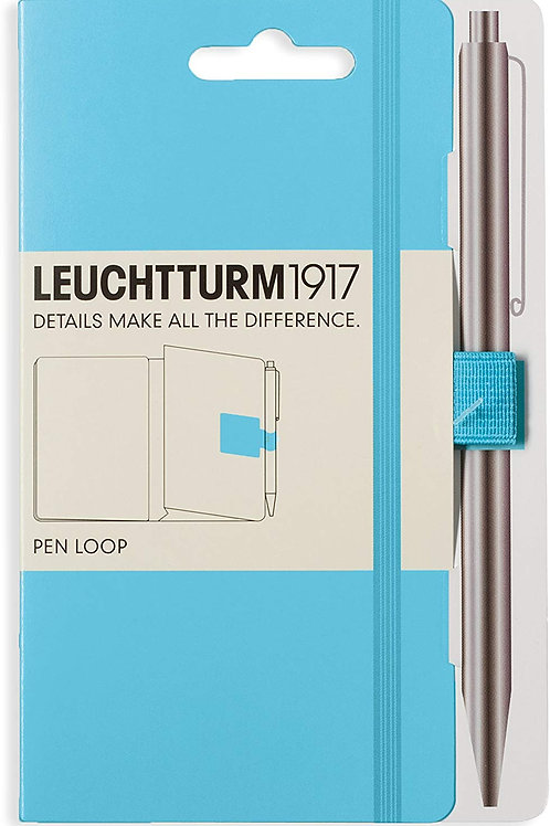 LEUCHTTURM1917 357520 Pen Loop (Pencil Holder), self-Adhesive, ice Blue