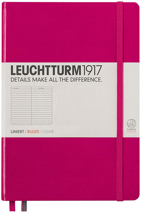 Leuchtturm1917 Medium A5 Ruled Hardcover Notebook (Berry) - 249 Numbered Pages