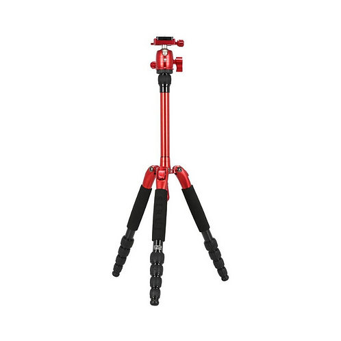 Sirui T-005S T-0S Series Aluminum Travel Tripod with B-00 Ball Head, Red