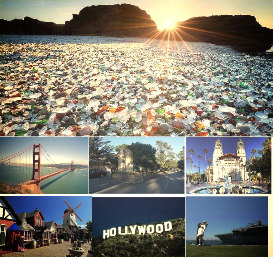 旧金山-玻璃海滩-纳帕酒庄-蒙特雷(卡梅尔,17 哩湾,大苏尔)-赫氏古堡-丹麦村-圣芭芭拉-洛杉矶-圣地亚哥
