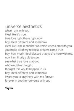 universe aesthetics