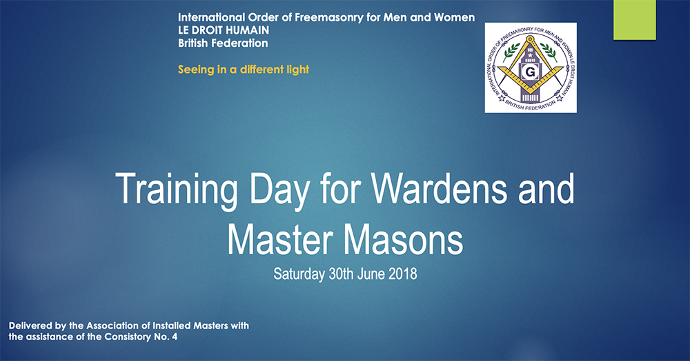 Training Day for Wardens and Master Masons