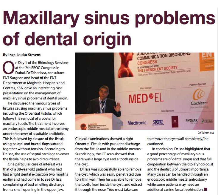 Maxillary Sinus Problems of Dental Origin