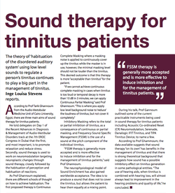 Sound Therapy For Tinnitus Patients