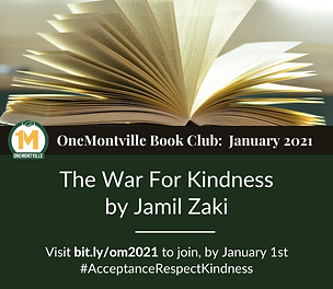 The War For Kindness OneMontville Book Club begins in january 2021